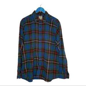 L.L. Bean Multicolor Plaid Cotton Flannel Shirt